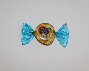 Candy or fish? Unique piece to adapt as a pendant or brooch