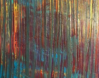 Acrylic painting original - Beautiful mess