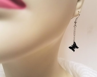 Up-cycled Inner Tube Butterfly Earrings