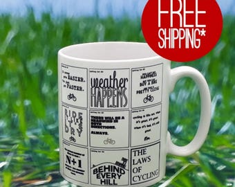 Cycling Mug - The Laws of Cycling