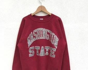 20% OFF Vintage Washington State Sweatshirt / Washington University Sweater / Washington Crewneck