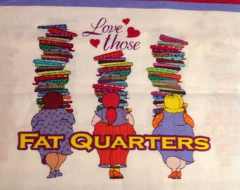 "18x44""  Love Those Fat Quarters cotton fabric"