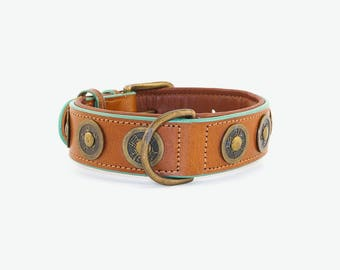 Leather dog collar Dog with a mission (DWAM)