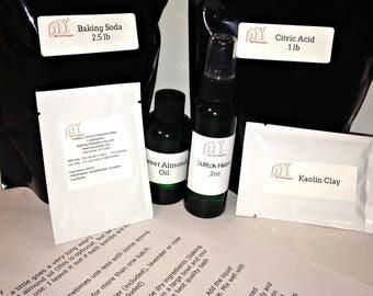 Make Your Own Bath Bomb Kit, DIY Bath Fizzy Kit, DIY spa kit