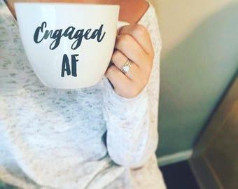 Engaged AF / married AF / tired AF mug