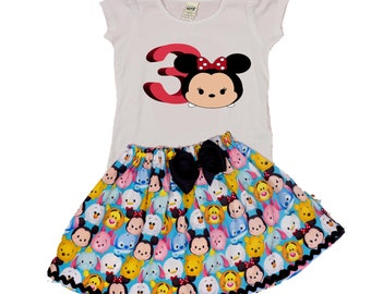 Girl Tsum Minnie Toddler dress Tsum outfit toddler age outfit  Disney tsum tsum Girl girl Tsum outfit  baby Tsum outfit