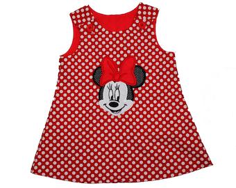 Minnie dress red  Minnie birthday dress Minnie custom name Minnie custom age Minnie birthday Minnie dress Minnie personalized Minnie party