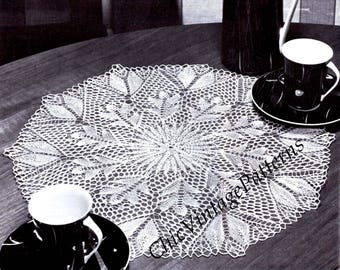 Knitted Lace Doily ... Vintage Table Centre ... Instant Download Pattern ... Heirloom Lace Doily ... Wedding Gift