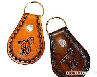 Leather Horse Key Fob - Western Key Chain - Horses Keychains - Colt Key Fob - Country Western Accessories