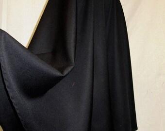 Black Skirt Tea Length Skirt~Full Circle black Skirt~1950's style circle skirt side pocket Custom make elastic waist Plus Size@sohoskirts