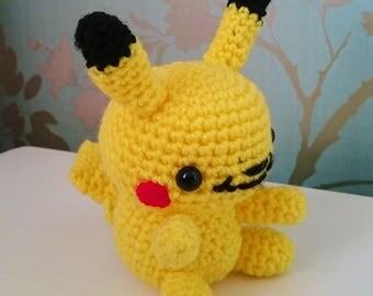 Crocheted Pikachu Pokemon Amigurumi Plushie