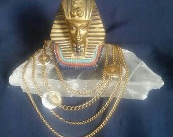 Bohemian Crystal Selenite Jewelry // Gypsy Bohemian Necklace // Healing Crystal Stone // Metaphysical Gems // White Full Moon Pendants
