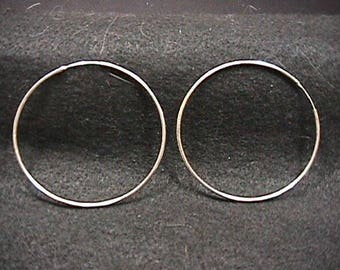 Sterling Silver Large Hoop Earrings  Ready to Wear