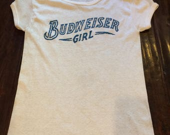 Vintage Budweiser Girl T-Shirt X-Large