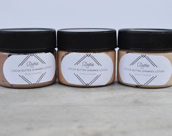 Cocoa Butter Shimmer Lotion in 3 Shades