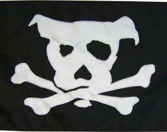 Pirate Dog: Handsewn (Various Sizes) Flag