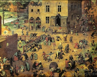 Poster, Many Sizes Available; Children'S Games Kinderspiele, Children'S Games. Bruegel
