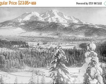 40% OFF SALE Poster, Many Sizes Available; Mount Shasta Covered In Snow, Siskiyou County, Ca.1900 1940 (5464) #031215