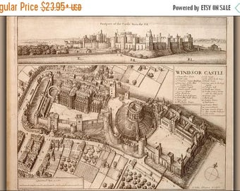 20% Off Sale - Poster, Many Sizes Available; Windsor Castle 17Th Century