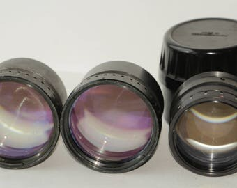 Vintage old telephoto lenses made in Czechoslovakia 3 pcs. One lot.