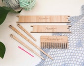 Complete Weaving Tool Kit - 2 x shuttles 4 x needles 1 x weaving comb