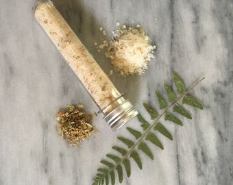 Lemongrass Ginger Bath Salt Tubes   Dead Sea Salt   Epsom Salt   Linden   Essential Oils   Mineral Bath   Spa Salts