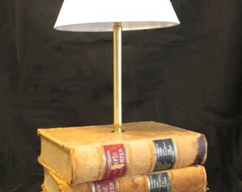 Custom Desk Lamp, Stack Of Books, Custom Lamp, Book Lover Gift, Unique