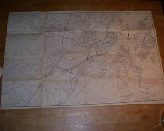 """1966 Maine State Highway Commission Map Proposed Rt 295 Work Portland 33x21"""""""