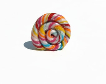 Spiral ring multicolor polymer clay