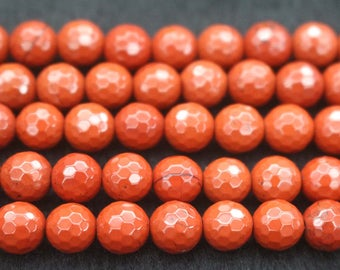 128 Faceted Africa Red Jasper Round Shape Beads,6mm 8mm 10mm 12mm Red Jasper Beads,15 inches 1 strand