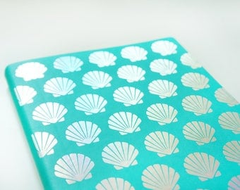 Holographic Seashells Notebook • Journal Notebook • Iridescent Notebook