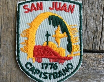 LAST ONE! San Juan Capistrano Mission 1776 Vintage Souvenir Travel Patch from Voyager