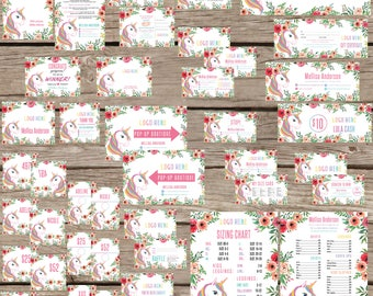 PRINTABLE Marketing Kit, Small Business, Home Office Approved, Fashion Consultant Retailer Pack, Custom Combo Pack, Unicorn Flowers LLR030