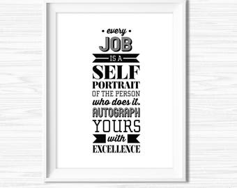 Teamwork quotes etsy for Motivational quotes for office cubicle