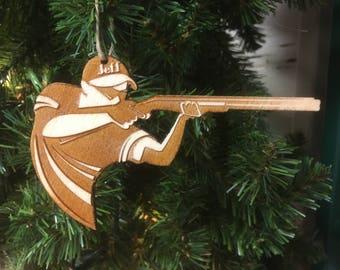Trap / Skeet Shooting Personalized Christmas Ornament