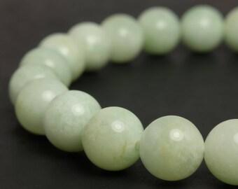 8mm Tanzanian Green Feldspar Beaded Bracelet