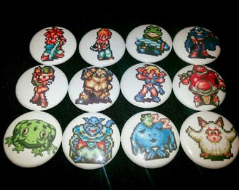 12 one-inch Chrono Trigger button pins