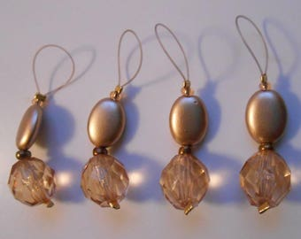 Stitch markers with Golden beads