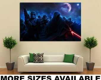 Wall Art Giclee Canvas Picture Print Gallery Wrap Ready to Hang Star Wars M001 60x40 48x32 36x24 24x16 18x12 3.2