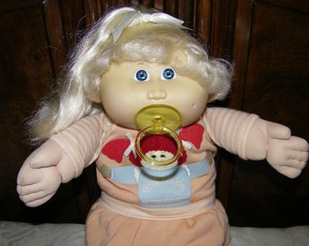 Vintage Cabbage Patch Kid Doll HTF #6 HM~ Cornsilk
