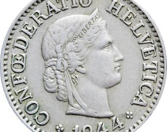 1944 10 Rappen Switzerland Coin