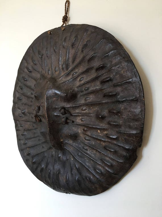 Early 20th century African Ethiopian Oromo tribal hide leather shield
