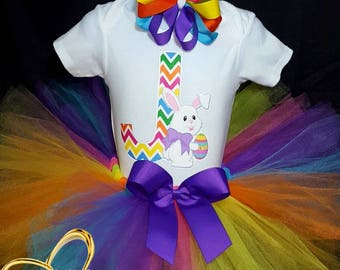 Custom letter Easter bunny Tutu outfit, Easter Tutu,  Easter Tutu outfit, bunny Tutu, Easter Tutu dress, Easter bunny Tutu, Tutu outfit