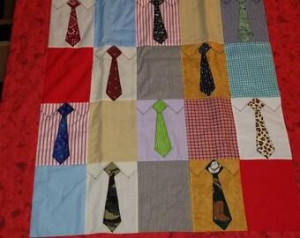 Men tie lap quilt handmade