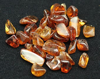 ONE Bag of orange gem Spessartine Garnet tumbled nuggets - Mineral Specimens/Gemstones for Sale