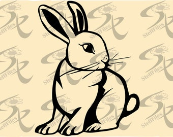 Vector RABBIT Animal,SVG,DXF,eps,ai,png,jpg, Silhouette,clipart, Digital images, graphical