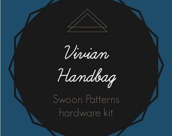 Vivian Handbag - Swoon Hardware Kit - Rectangle Rings