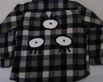 Three Eyed Handpainted Flannel - Limited Edition