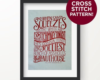 Christmas Vacation Quote - Cross Stitch Pattern - Digital, Instant Download