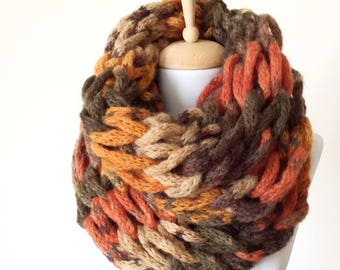 Chunky scarf knit scarf infinity scarf chunky knit scarf cowl gift for her valentines day gift